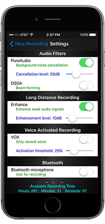 PureAudio™ Plus Recorder for iPhone - Andrea Electronics