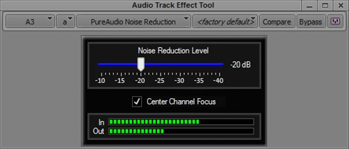 PureAudio Noise Reduction & Center Channel Focus GUI